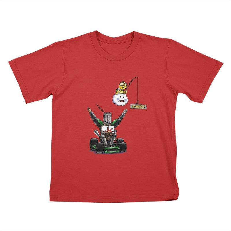 Dark Souls invades Mario Kart (Solaire of Astora) Kids T-Shirt by Keith Noordzy's Artist Shop