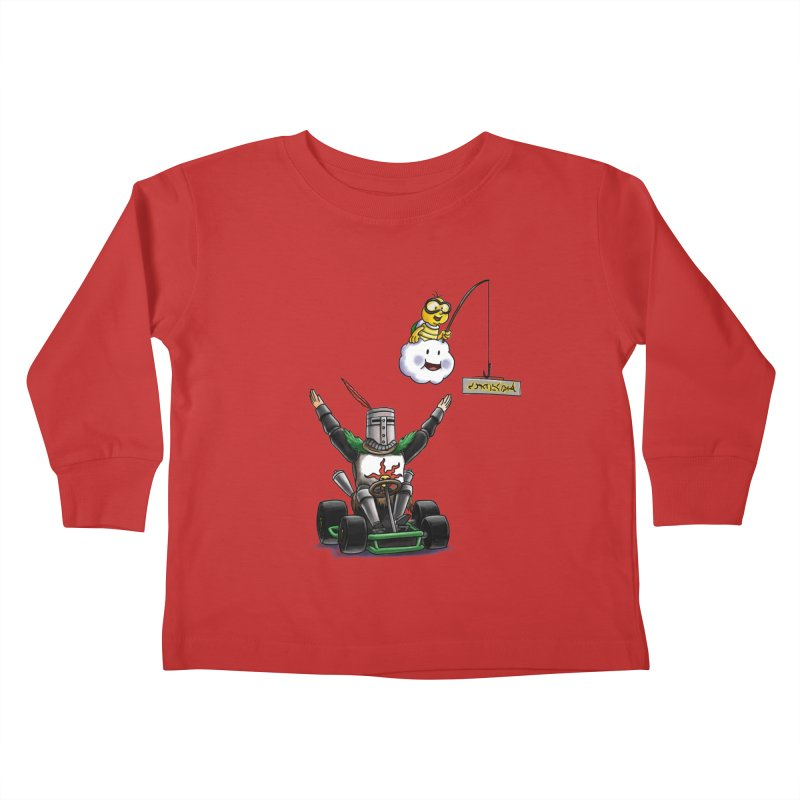 Dark Souls invades Mario Kart (Solaire of Astora) Kids Toddler Longsleeve T-Shirt by Keith Noordzy's Artist Shop