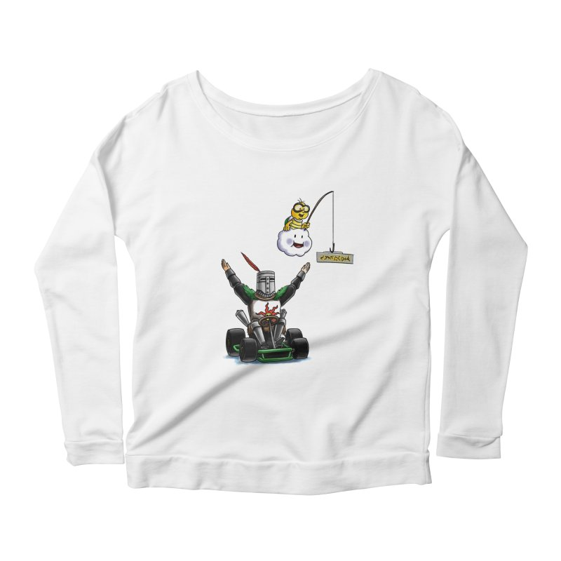 Dark Souls invades Mario Kart (Solaire of Astora) Women's Scoop Neck Longsleeve T-Shirt by Keith Noordzy's Artist Shop