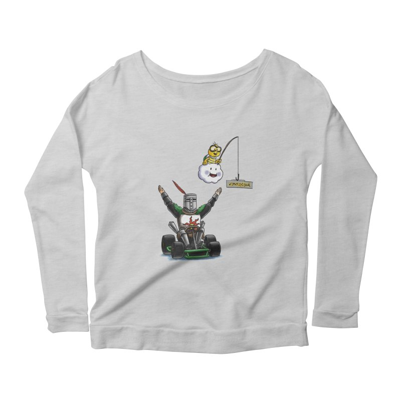 Dark Souls invades Mario Kart (Solaire of Astora) Women's Longsleeve Scoopneck  by Keith Noordzy's Artist Shop