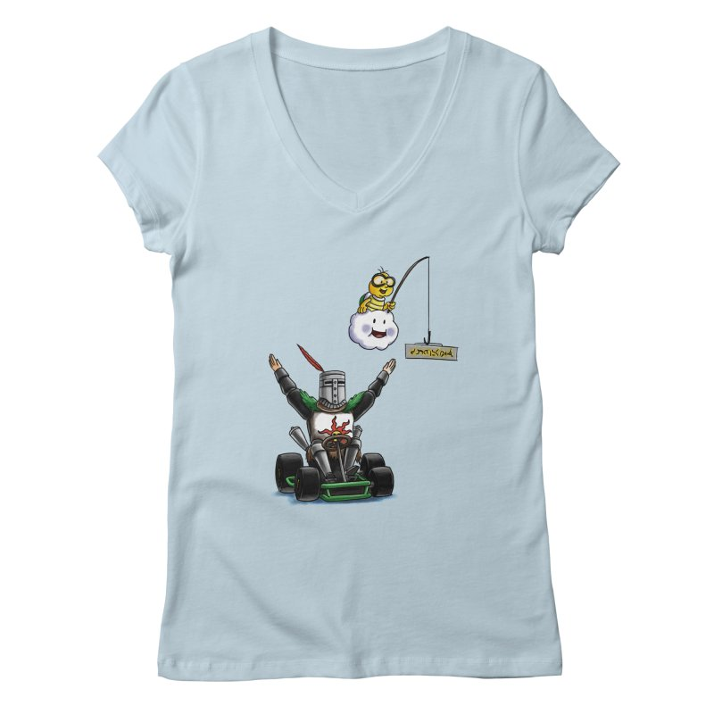 Dark Souls invades Mario Kart (Solaire of Astora) Women's V-Neck by Keith Noordzy's Artist Shop
