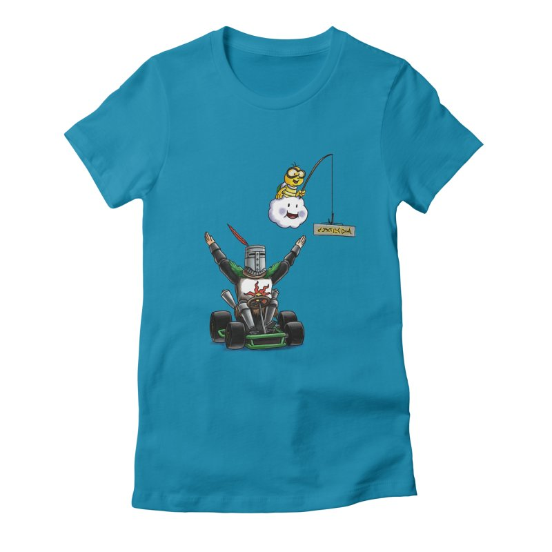 Dark Souls invades Mario Kart (Solaire of Astora) Women's Fitted T-Shirt by Keith Noordzy's Artist Shop