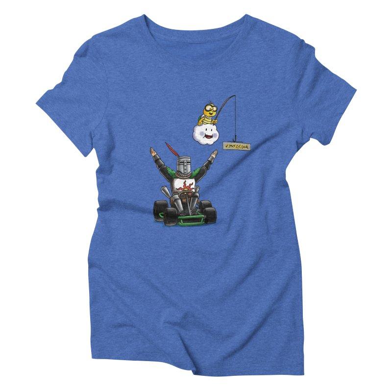 Dark Souls invades Mario Kart (Solaire of Astora) Women's Triblend T-Shirt by Keith Noordzy's Artist Shop