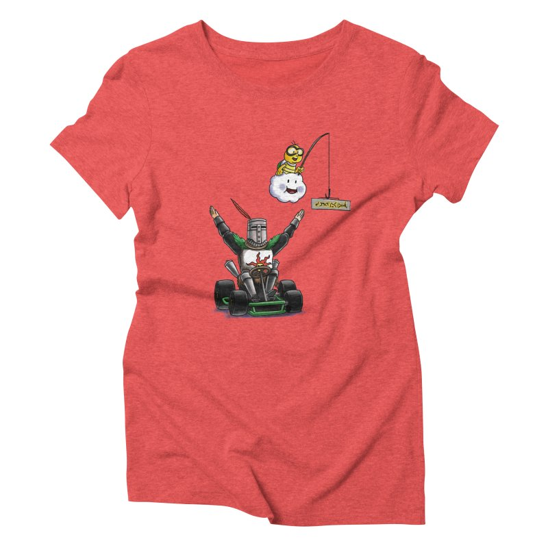 Dark Souls invades Mario Kart (Solaire of Astora) Women's Triblend T-Shirt by Keith Noordzy's Artist Shop