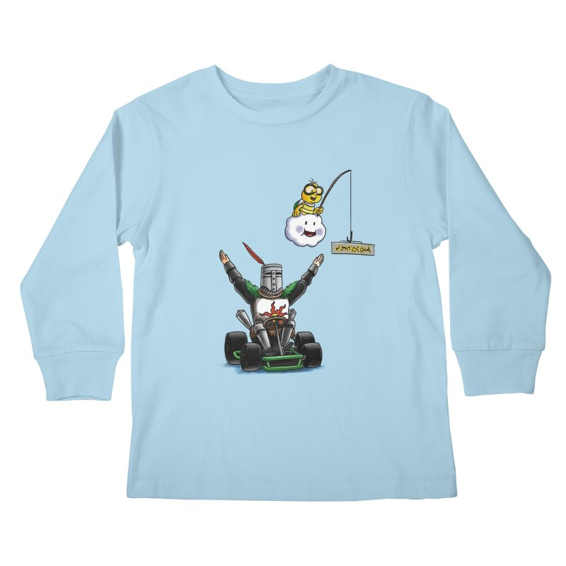 Dark Souls invades Mario Kart (Solaire of Astora) Kids Longsleeve T-Shirt by Keith Noordzy's Artist Shop