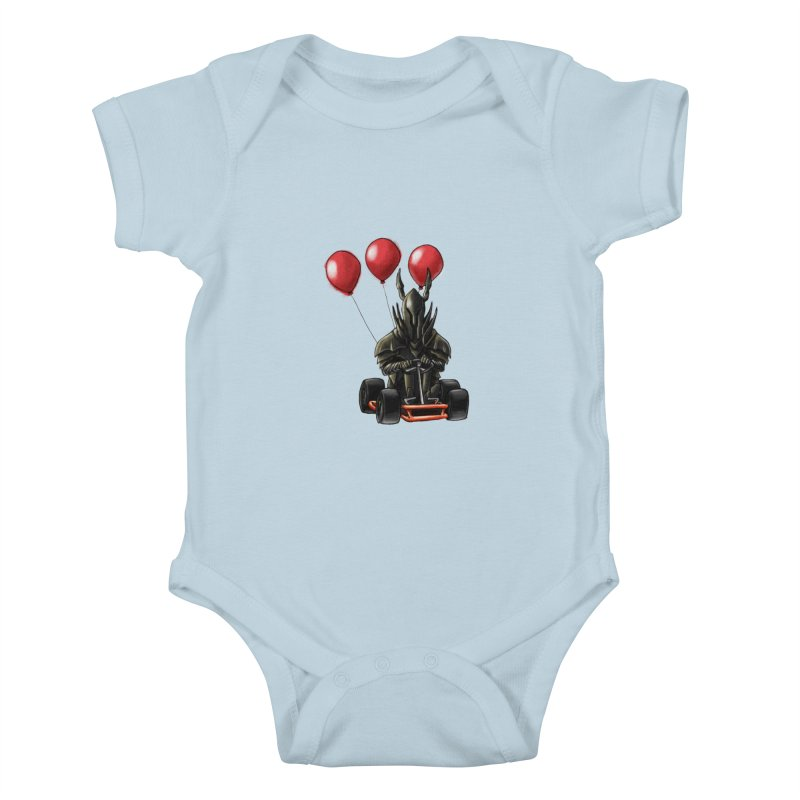 Dark Souls invades Mario Kart (Black Knight) Kids Baby Bodysuit by Keith Noordzy's Artist Shop
