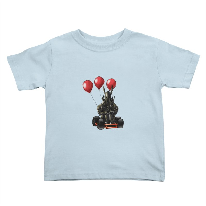 Dark Souls invades Mario Kart (Black Knight) Kids Toddler T-Shirt by Keith Noordzy's Artist Shop