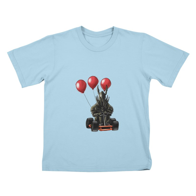 Dark Souls invades Mario Kart (Black Knight) Kids T-shirt by Keith Noordzy's Artist Shop
