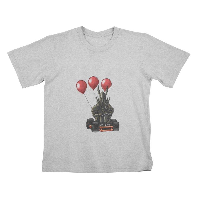 Dark Souls invades Mario Kart (Black Knight) Kids T-Shirt by Keith Noordzy's Artist Shop