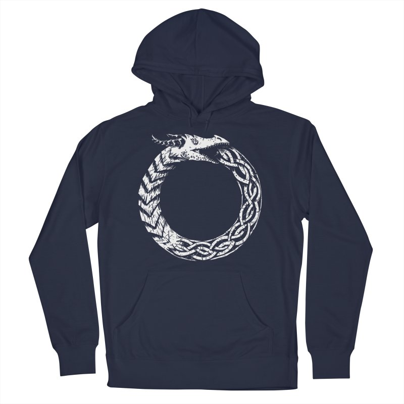 Jörmungandr Women's French Terry Pullover Hoody by Keith Noordzy's Artist Shop
