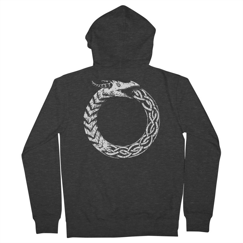 Jörmungandr Women's French Terry Zip-Up Hoody by Keith Noordzy's Artist Shop