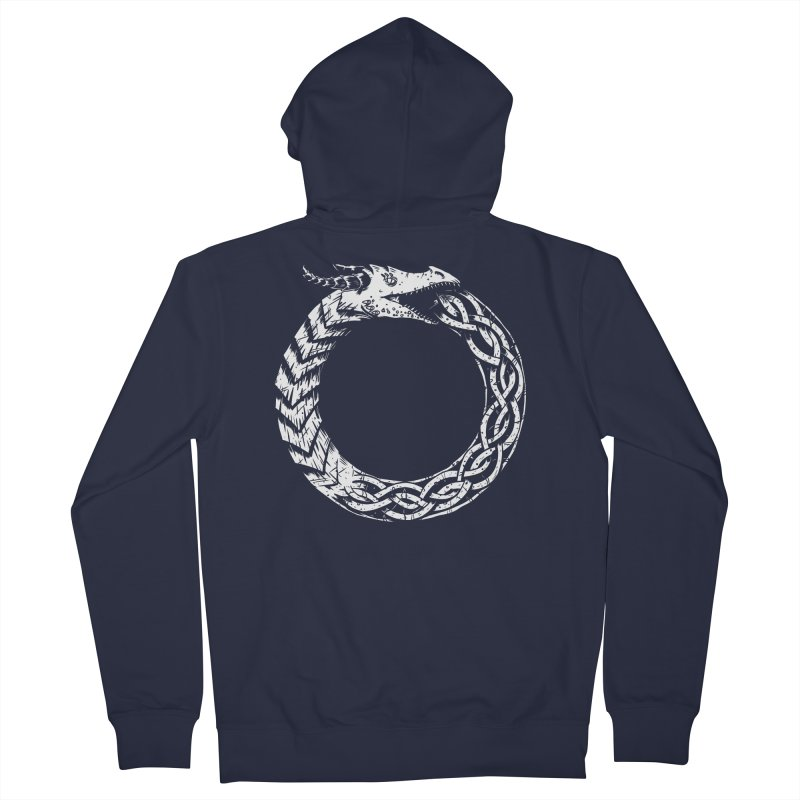 Jörmungandr Men's French Terry Zip-Up Hoody by Keith Noordzy's Artist Shop