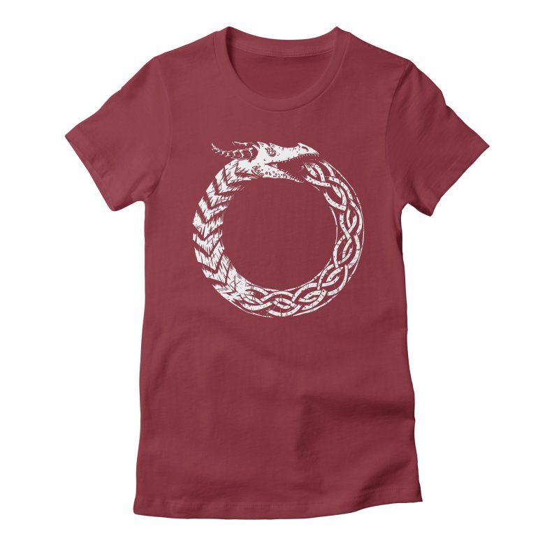 Jörmungandr Women's Fitted T-Shirt by Keith Noordzy's Artist Shop