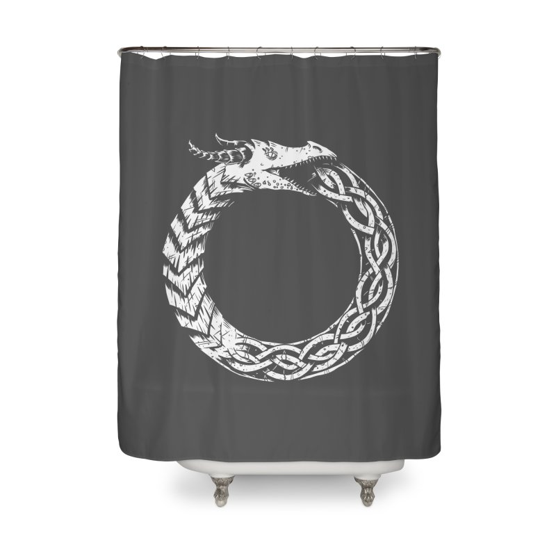 Jörmungandr Home Shower Curtain by Keith Noordzy's Artist Shop