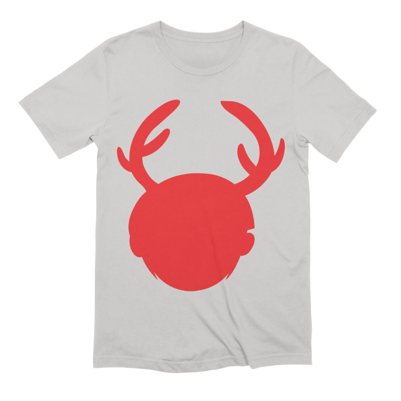 Silhouette Antlers Men's T-Shirt by Keith Noordzy's Artist Shop