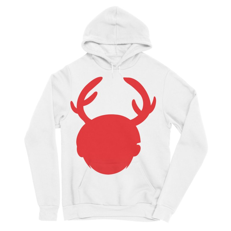 Silhouette Antlers Men's Sponge Fleece Pullover Hoody by Keith Noordzy's Artist Shop