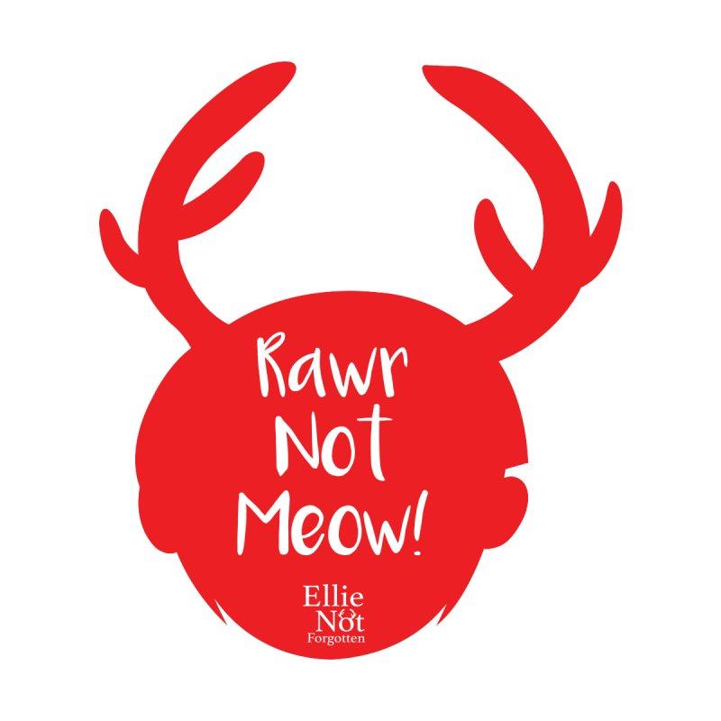Rawr Not Meow! - Antlers Men's Longsleeve T-Shirt by Keith Noordzy's Artist Shop