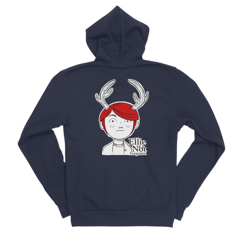 Ellie Women's Sponge Fleece Zip-Up Hoody by Keith Noordzy's Artist Shop
