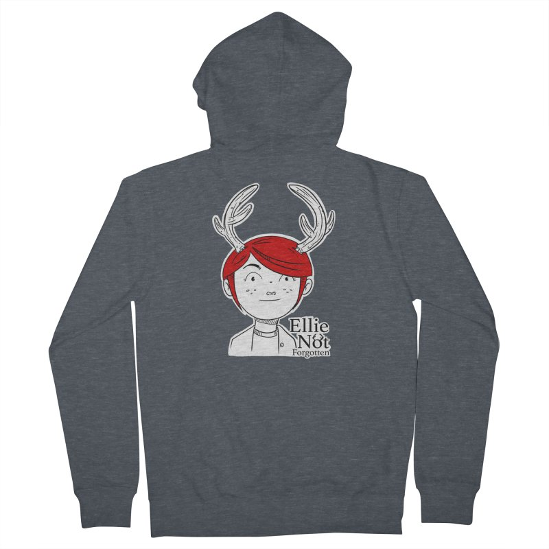 Ellie Men's French Terry Zip-Up Hoody by Keith Noordzy's Artist Shop
