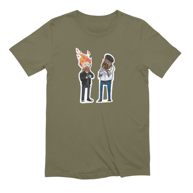 Mythbusters Men's Extra Soft T-Shirt by Keith Noordzy's Artist Shop