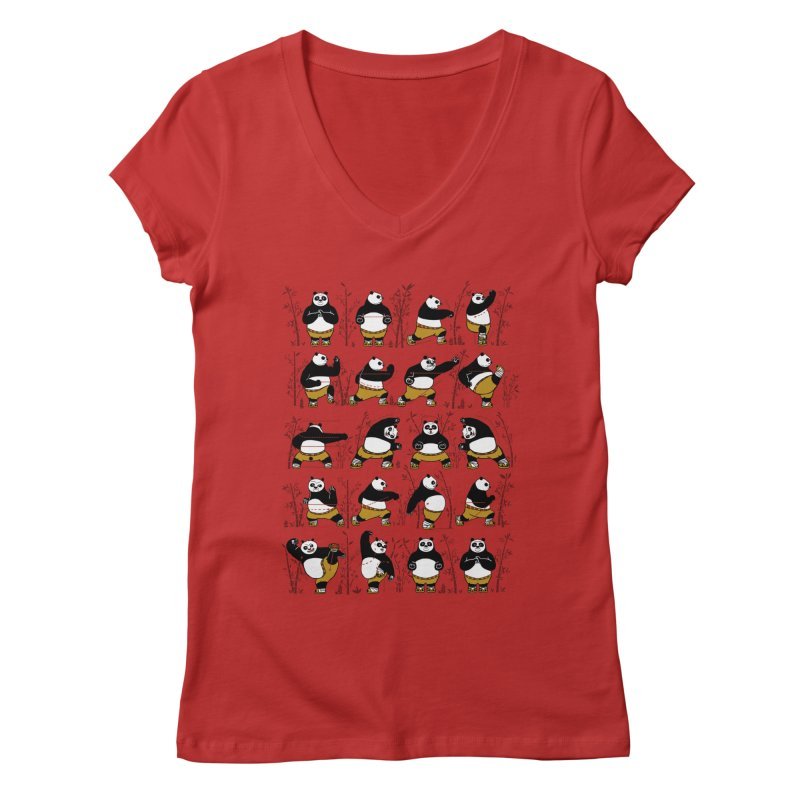 Kung Fu for Dummies Women's V-Neck by keithxiii's Artist Shop