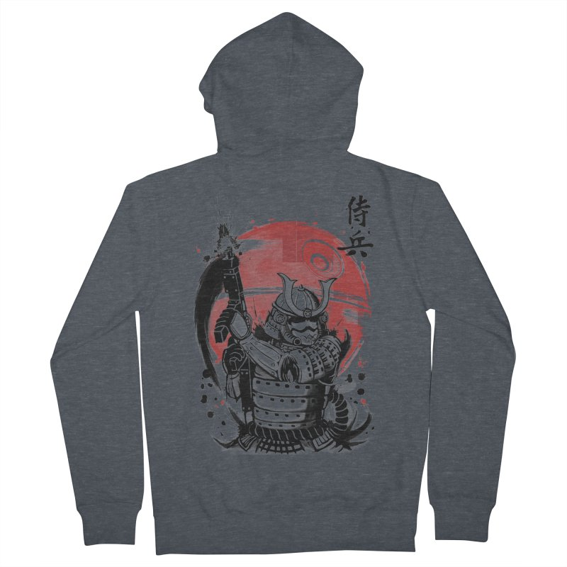 Samurai Trooper Men's French Terry Zip-Up Hoody by keithxiii's Artist Shop