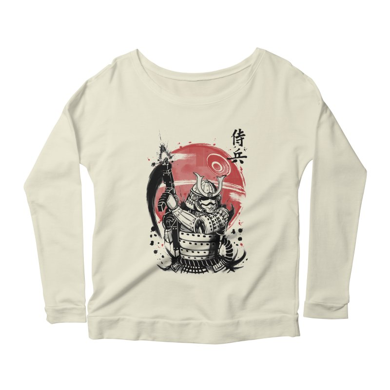 Samurai Trooper Women's Longsleeve Scoopneck  by keithxiii's Artist Shop