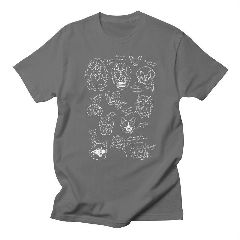 Dog Thoughts Men's T-shirt by kellabell9