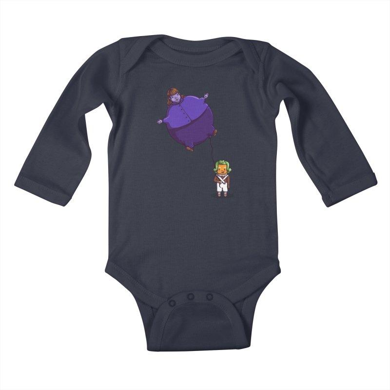 Too Much Bubblegum Kids Baby Longsleeve Bodysuit by kellabell9