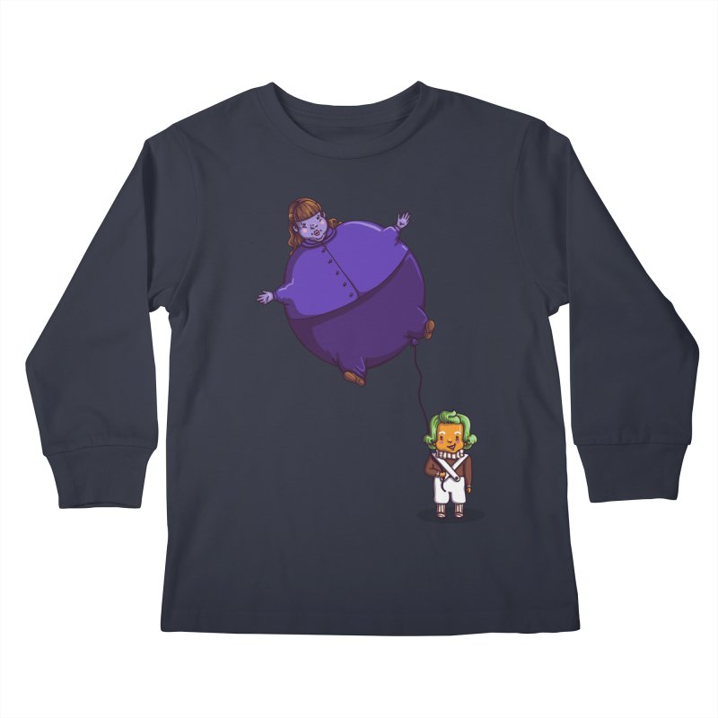 Too Much Bubblegum Kids Longsleeve T-Shirt by kellabell9