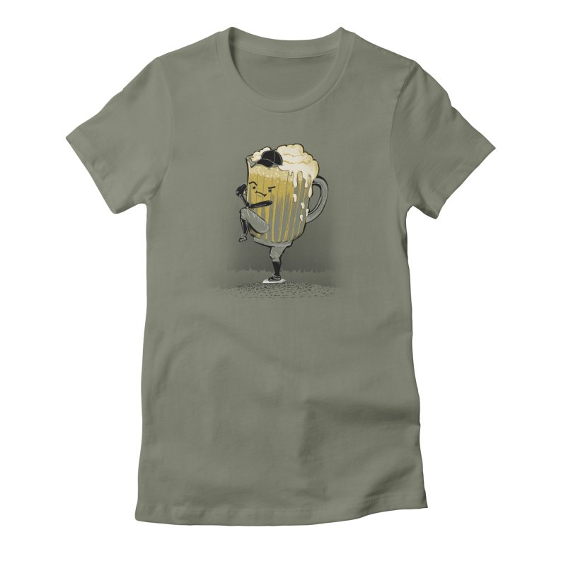 The Pitcher Women's Fitted T-Shirt by kellabell9