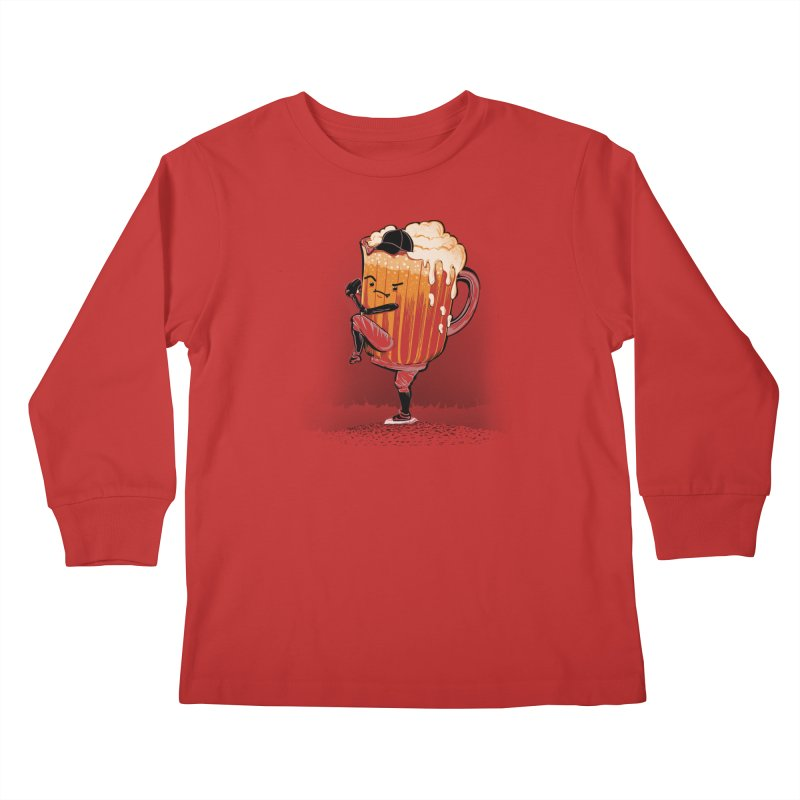 The Pitcher Kids Longsleeve T-Shirt by kellabell9