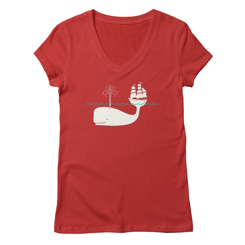 Moby Women's V-Neck by kellabell9