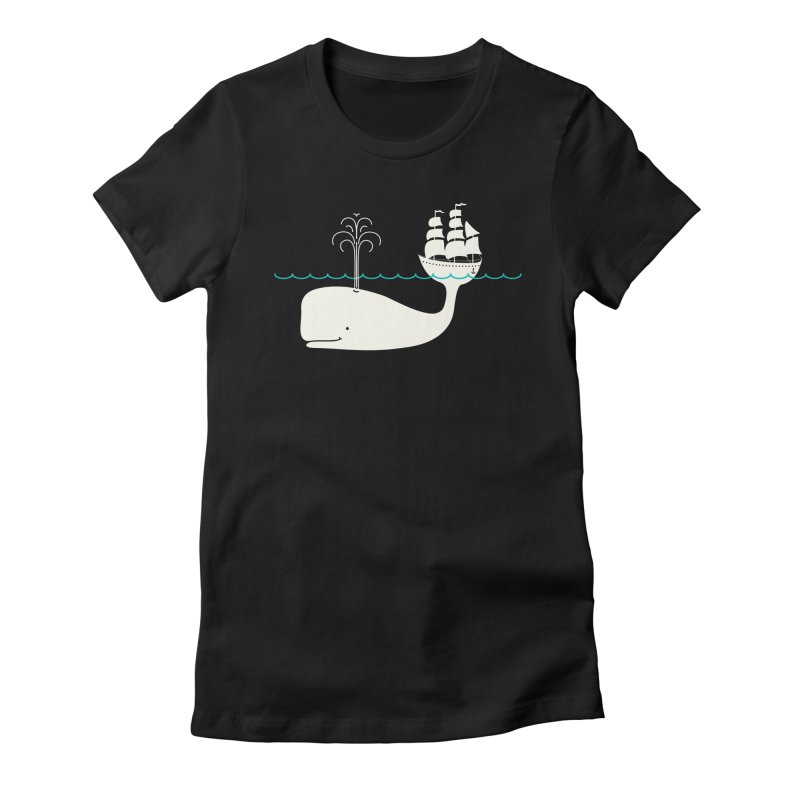 Moby Women's Fitted T-Shirt by kellabell9