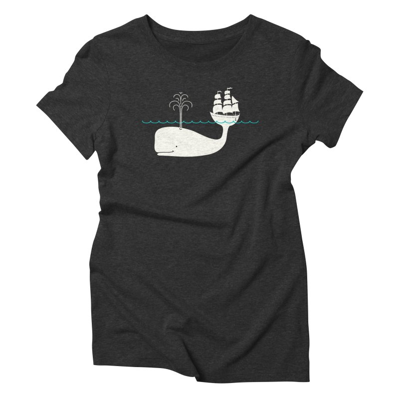 Moby Women's Triblend T-Shirt by kellabell9