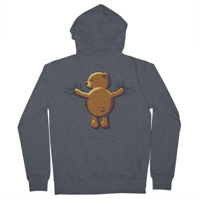 Bear Hug Men's Zip-Up Hoody by kellabell9