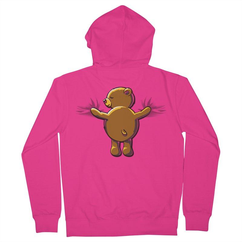 Bear Hug Men's French Terry Zip-Up Hoody by kellabell9