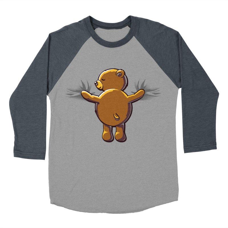 Bear Hug Women's Baseball Triblend Longsleeve T-Shirt by kellabell9