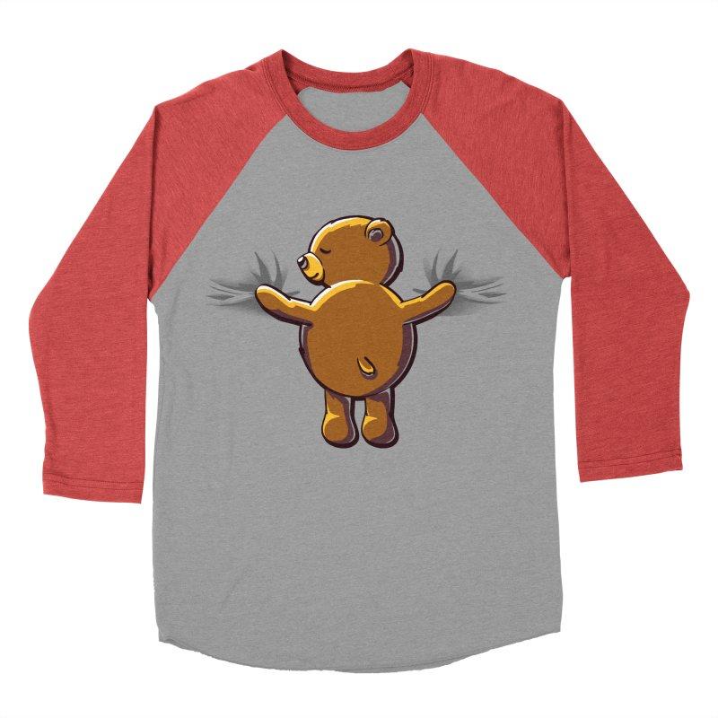 Bear Hug Men's Baseball Triblend T-Shirt by kellabell9