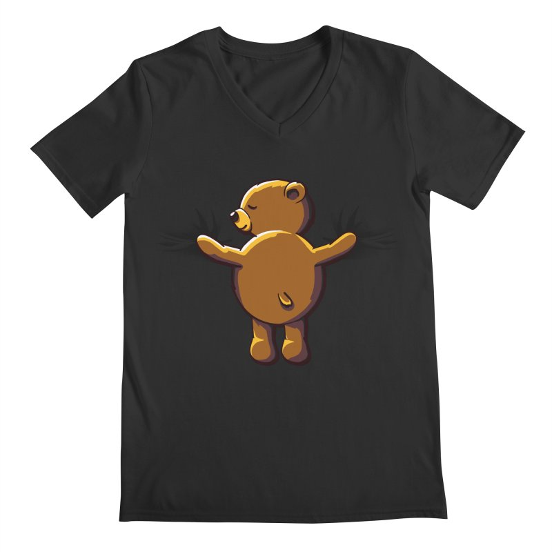 Bear Hug Men's V-Neck by kellabell9