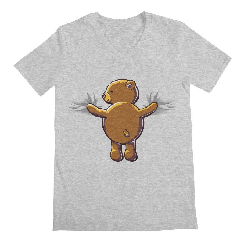 Bear Hug Men's Regular V-Neck by kellabell9
