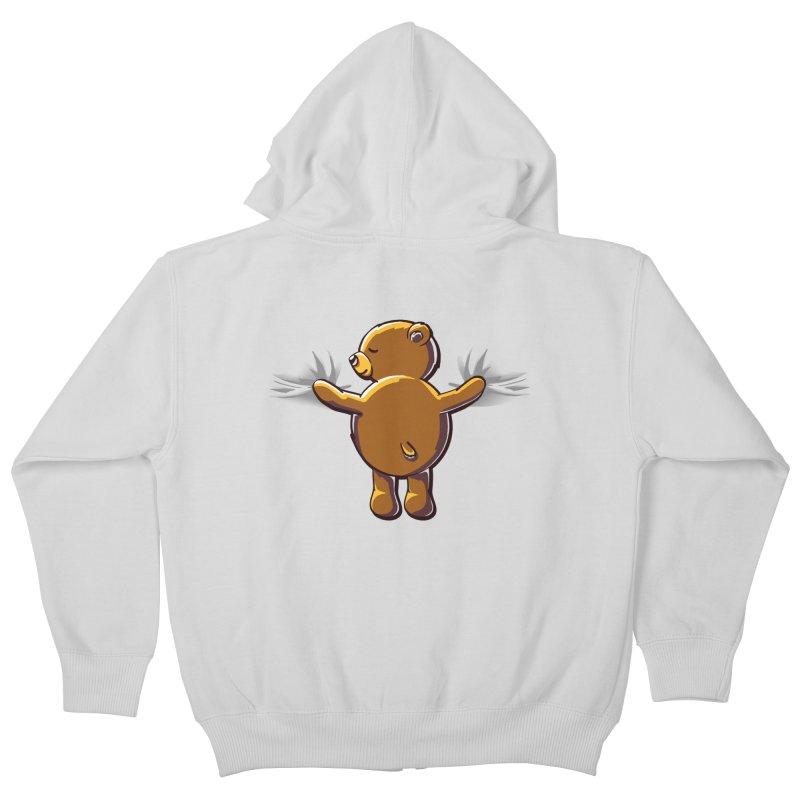 Bear Hug Kids Zip-Up Hoody by kellabell9