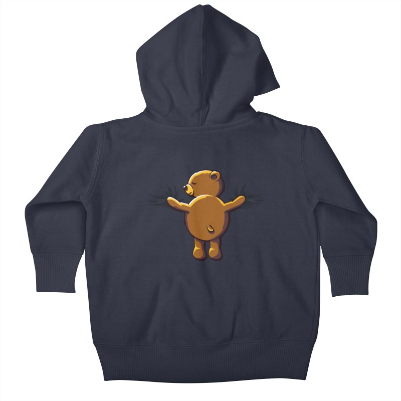 Bear Hug Kids Baby Zip-Up Hoody by kellabell9