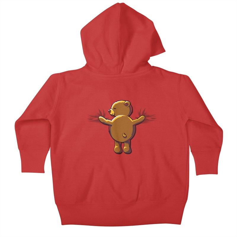 Bear Hug Kids Baby Zip-Up Hoody by kellabell9