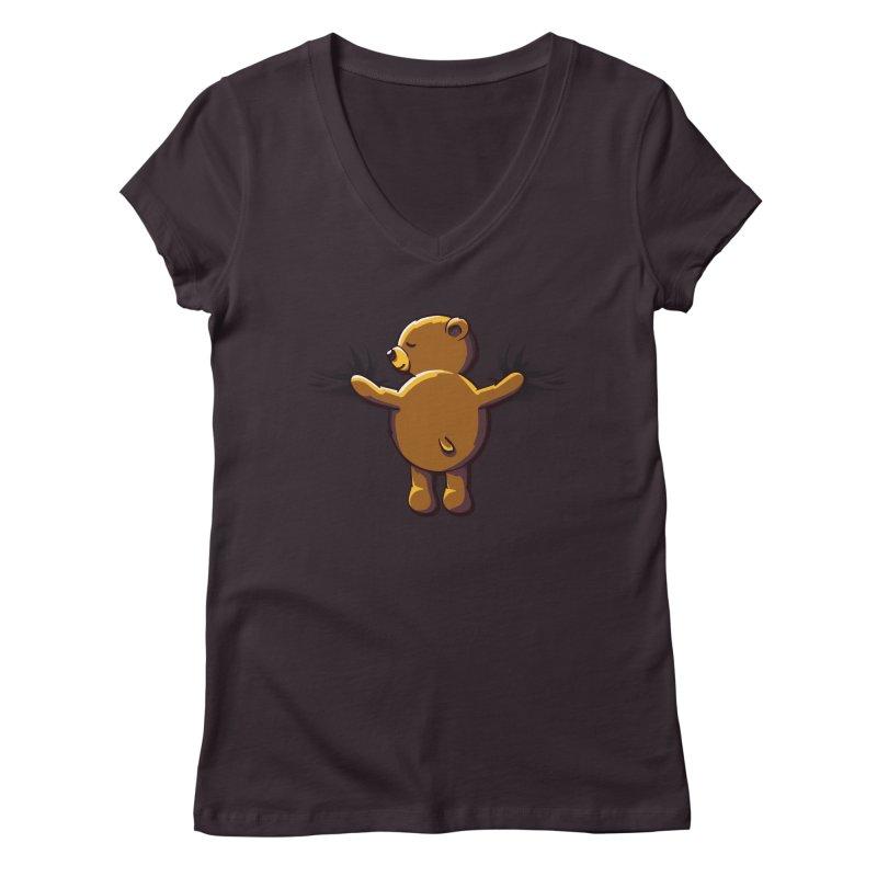 Bear Hug Women's V-Neck by kellabell9