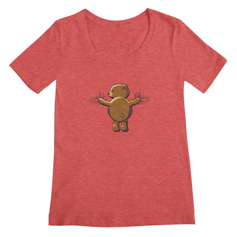 Bear Hug Women's Scoopneck by kellabell9