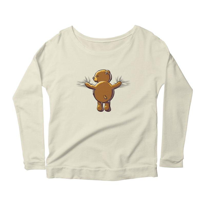 Bear Hug Women's Longsleeve Scoopneck  by kellabell9