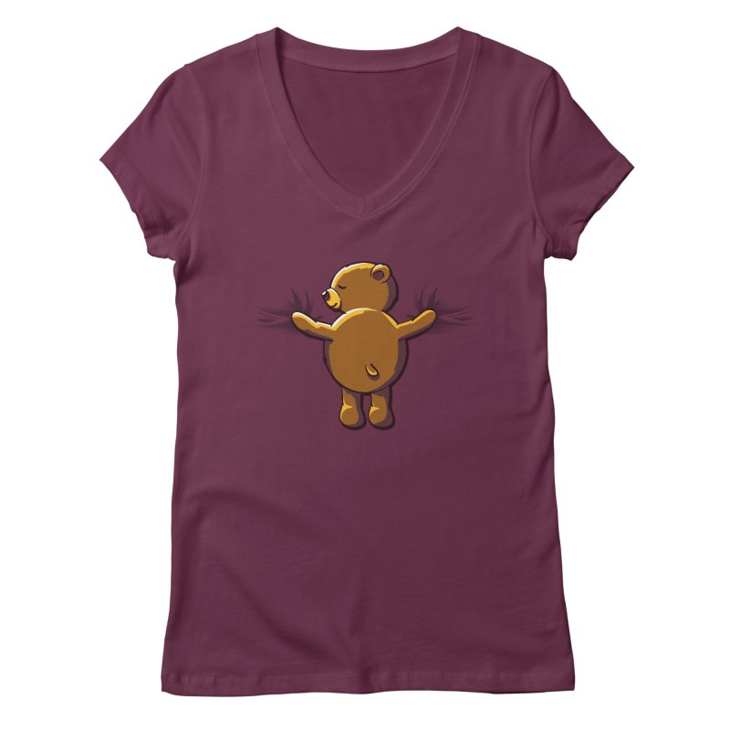 Bear Hug Women's V-Neck by kellabell9