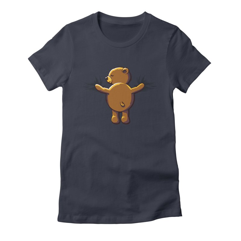 Bear Hug Women's Fitted T-Shirt by kellabell9