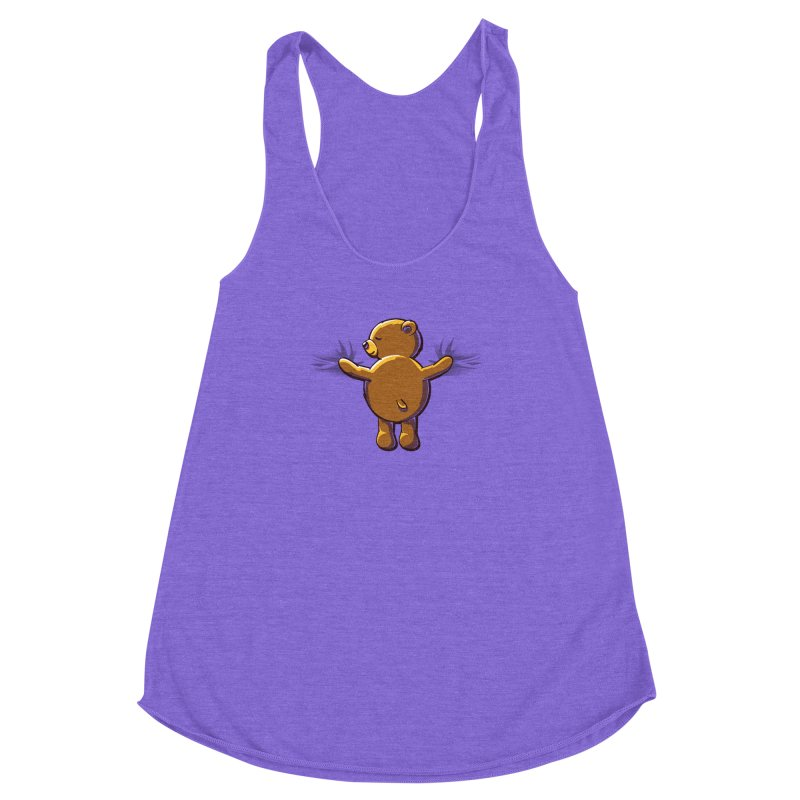 Bear Hug Women's Racerback Triblend Tank by kellabell9